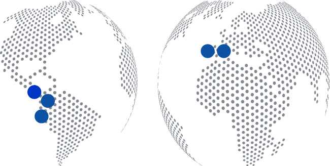 Grupo ACRE mapa sedes