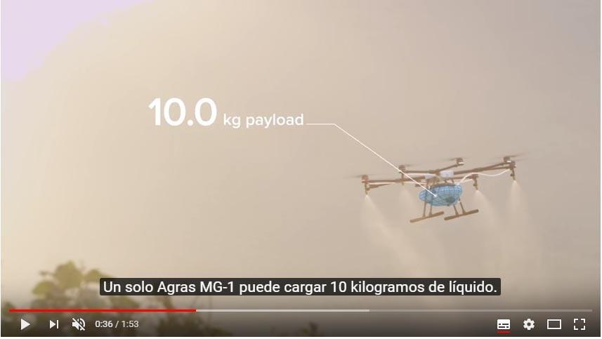 Video Dron DJI AGRAS MG-1 para agricultura de precisión