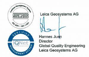 Certificado de autorización de centro soporte tecnico oficial Leica Geosystems