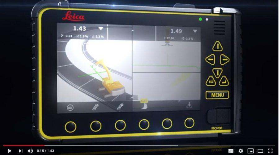 Video Software de control de máquinas 3D para obra Leica MC1