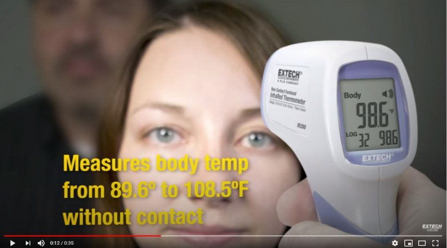 Video IR200 FLIR EXTECH: Termómetro para tomar temperatura a distancia