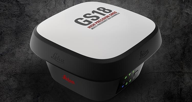 Antena GNSS GS18 i con cámara de vídeo